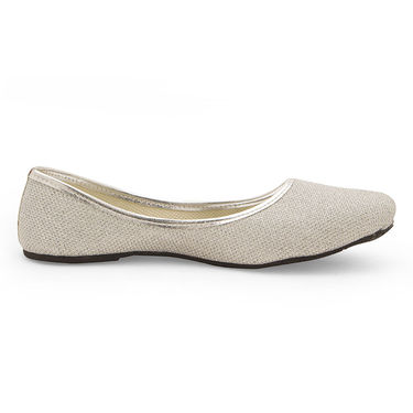 Branded Womens Bellies Silver -MO310