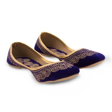 Branded Womens Bellies Blue -MO353