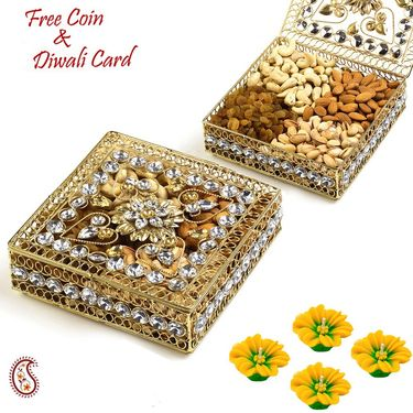 Aapno Rajasthan Floral Design Jaal Pattern Dry fruit Box Hamper
