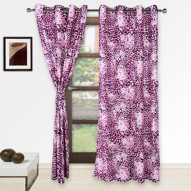 Story @ Home Pink 2 pc Door curtain-7 feet-DNR2078