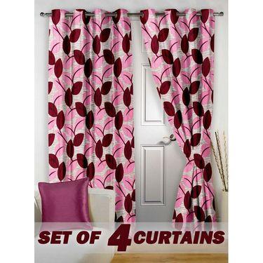 Set of 4 Printed Door curtain-7 feet-DNR_2_3062
