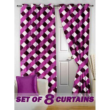 Set of 8 Printed Door curtain-7 feet-DNR_4_3014
