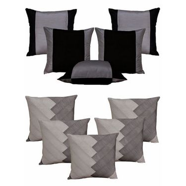Dekor World Ultima Silver Combo. Cushion Cover(Pack of 10 Pcs)-DWCB-121