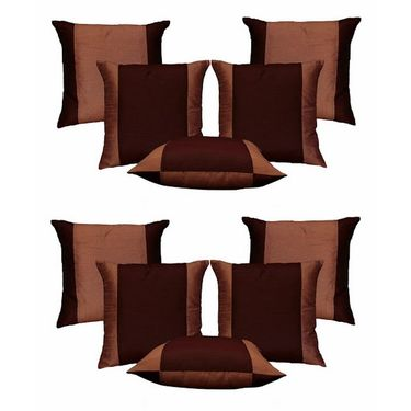 Dekor World Double Side Cushion Cover-Set of 10 Pcs-DWCB-138