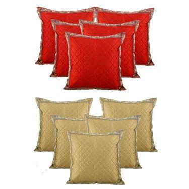 Dekor World Set of 10 Designer Printed Cushion Cover-DWCB-185