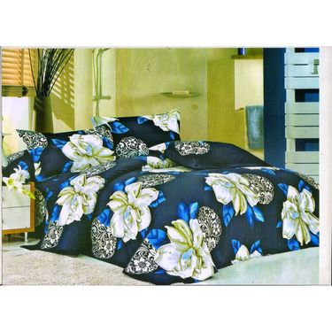 Set of 4 Floral 3D Printed Bedsheet with 8 Pillow Covers-DWCB-469_61_32_09