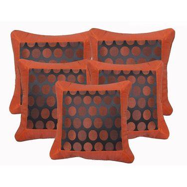 Set of 5 Dekor World Design Cushion Cover-DWCC-12-018-5