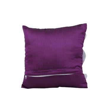 Dekor World 9 Flower Tissue Cushion Cover (Pack of 5)-DWCC-12-127-5