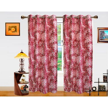 Dekor World Galaxy Mix Window Curtain-Pack of 2 -DWCT-710-5