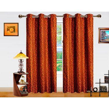 Dekor World Sprial Altra Window Curtain-Set of 2 -DWCT-719-5