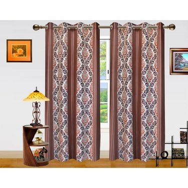 Dekor World Signature Window Curtain-Set of 2 -DWCT-772-5
