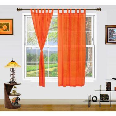 Dekor World Summer Fun Window Curtain- Set of 2 Pcs-DWCT-887-5