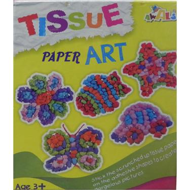 Awals New Tissue Paper Art Kit - DIY Activity Kit for Kids