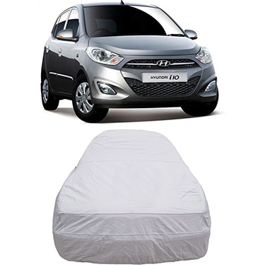 Digitru Car Body Cover for Hyundai i10 - Silver