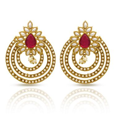 Branded Gold Plated Artificial Earrings_Er30046gpin