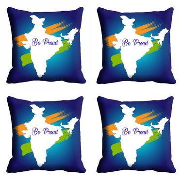 meSleep Republic Day Be Proud Cushion Cover (16x16) -EV-10-REP16-CD-001-04