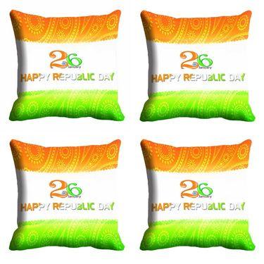 meSleep Happy Republic Day Cushion Cover (16x16) -EV-10-REP16-CD-029-04