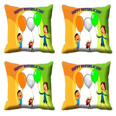 meSleep Happy Republic Day Cushion Cover (16x16) -EV-10-REP16-CD-051-04