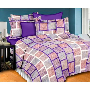 Ahem Homes Cotton  Double Bedsheet With 2 Pillow Cover-EX1202