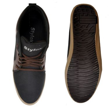 Stylox Faux Leather Sneaker Fa-Sty-Sh-8001 -Black