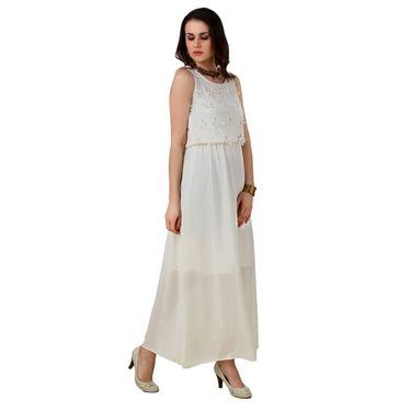 Fasense Georgette & Satin Solid Dresses  -FD002C2