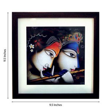 eCraftIndia Radha Krishna Satin Matt Texture Framed UV Art Print-FPSJ622