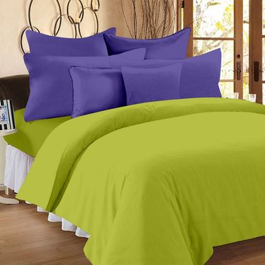 Storyathome 100% Cotton Double Bedsheet With 2 Pillow Cover-FS1208