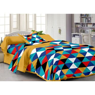 Storyathome 100% Cotton Single Bedsheet with 1 Pillow Cover-FY1101