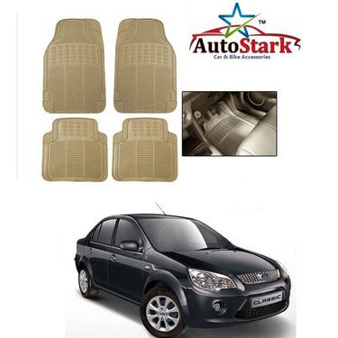 AutoStark - Premium Quality Beige Rubber Car Foot Mat For - Ford Fiesta Classic