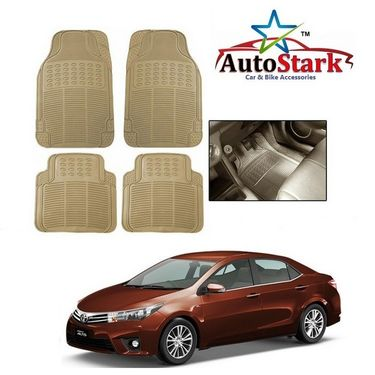 AutoStark - Premium Quality Beige Rubber Car Foot Mat For - Toyota Corolla Altis