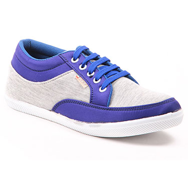 Foot n Style Faux Leather Casual Shoes  FS299 - Blue & Grey