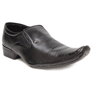 Foot n Style Smart Slip on Shoes - Black-4939