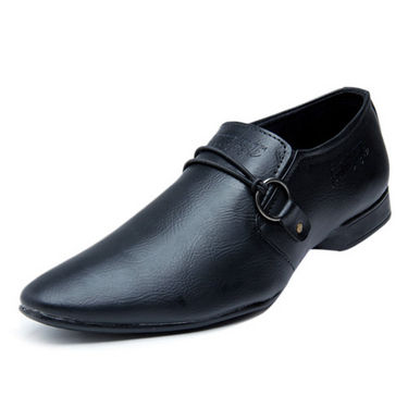 Foot n Style Stylish Slip on Shoes - Black-4936