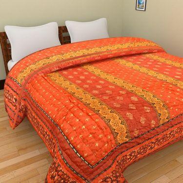 GRJ India Designer Printed Single AC Bed Quilt-GRJ-SQ-156