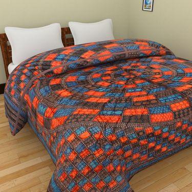 GRJ India Designer Printed Single Bed Quilt-GRJ-SQ-161