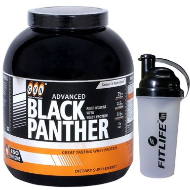 GXN Advance Black Panther 7 Lb (3.17kgs) Butterscotch Flavor  + Free Protein Shaker