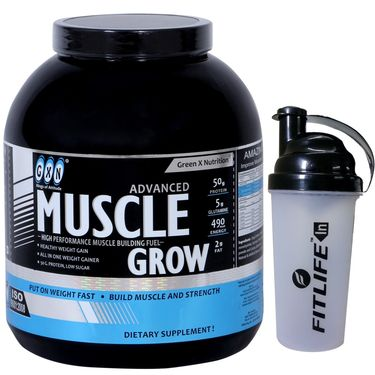GXN Advance Muscle Grow 4 Lb (1.81kg) Banana Flavor + Free Protein Shaker