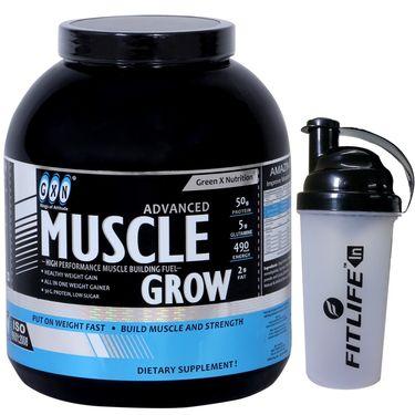 GXN Advance Muscle Grow 6 Lb (2.27kgs) Vanilla Flavor + Free Protein Shaker