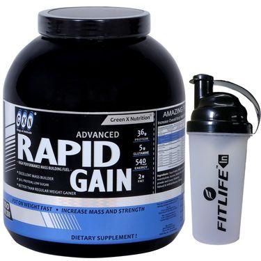 GXN Advance Rapid Gain 4 Lb (1.81kg) Butterscotch Flavor  + Free Protein Shaker