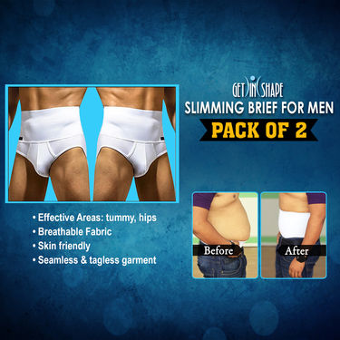 Get In Shape Slimming Brief for Men - Pack of 2