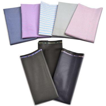 Graviera Men's Classic Formal Combo - 5 Shirt Piece + 3 Pant Piece (5S3T-3)