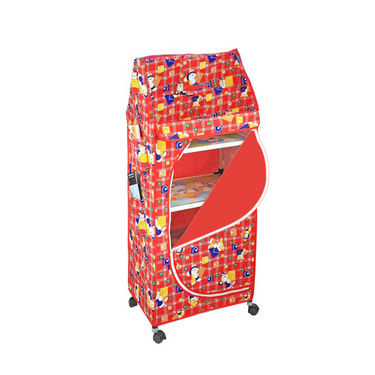 5 Shelves Folding Cupboard   Red available at Naaptol for Rs.1299