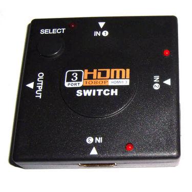 Aeoss 3 Port HDMI Switcher for HD TV's - Black