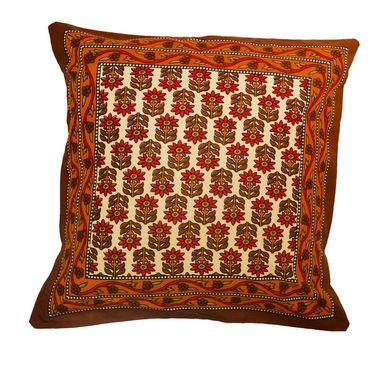 eCraftIndia Floral Design Set of 5 Cotton Cushion Covers-HF5CC174_M