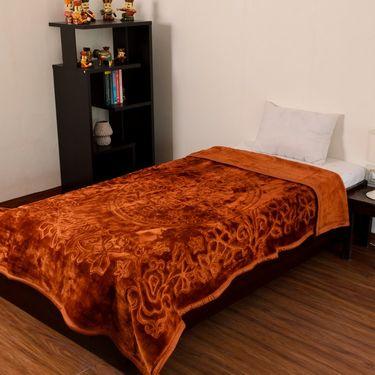 eCraftIndia Designer Printed Single Bed Mink Blanket-HFSMB106