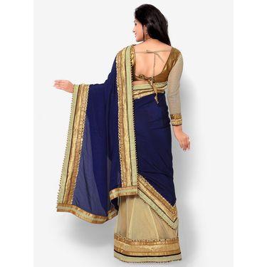 Indian Women Satin Chiffon Printed Saree -HT71014