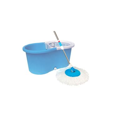kawachi Magic Wash Floor Cleaning 360 Spin Mop With Soap Bottle-I39