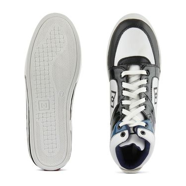 Faux Leather White Casual Shoes -bn32