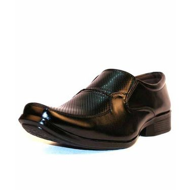 Faux Leather Black Formal Shoes -bn47