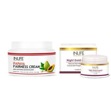 INLIFE Skin Rejuvenation Combo - Natural Night Gold & Papaya Fairness Cream�
